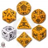 Set de des Deadlands orange et noir