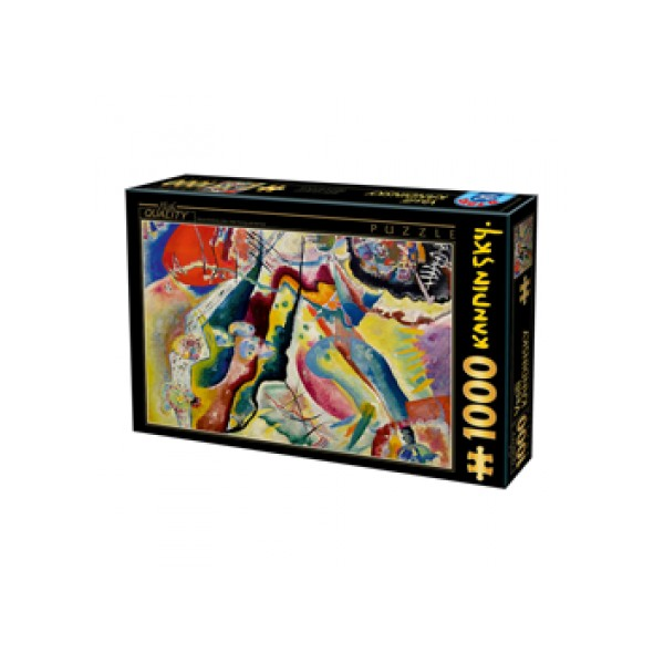 puzzles peinture avec tache rouge de vassily kandinsky 1000 pi ces boutique philibert. Black Bedroom Furniture Sets. Home Design Ideas