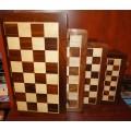 Jeu d'échecs pliant magnétique marqueté, 25 cm 2