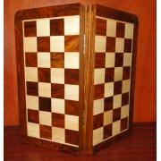 Jeu d'échecs pliant magnétique marqueté,  30 cm