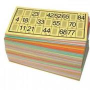 Pack 125 grilles / cartons souples de loto jaunes