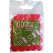 100 Pions 18 mm marquage Loto Fuchsia