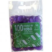 100 Pions 18 mm marquage Loto Violet