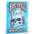 Club Tattoo - Bleu - jeux de 54 Cartes Bicycle 0
