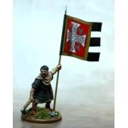 Bannière de guerre galloise et porteur