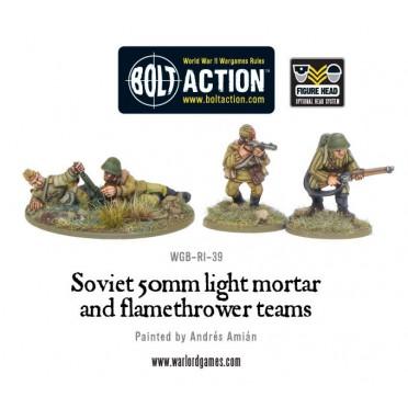 Bolt Action  -  Soviet 50mm light mortar and Flamethrower teams