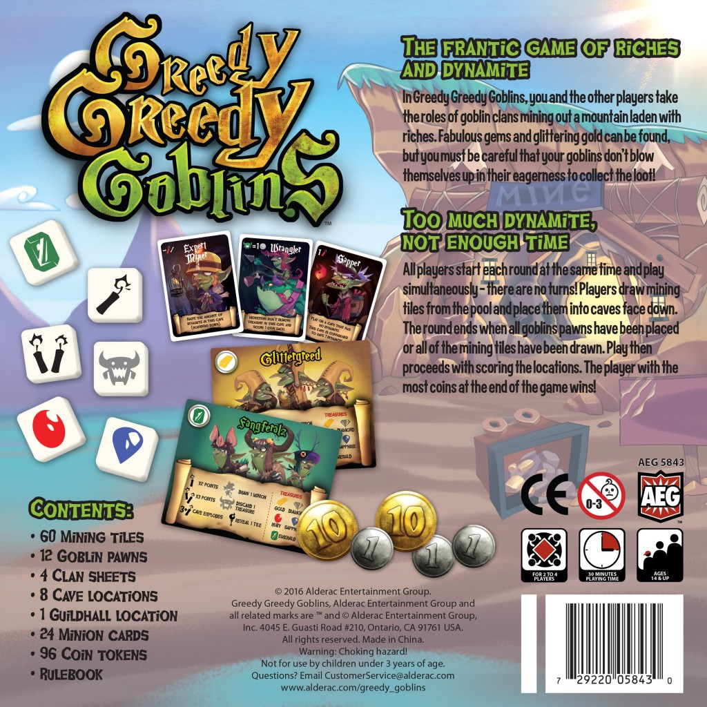 Buy Greedy, Greedy, Goblins - Board Game - Alderac Entertainment Group