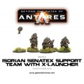 Beyond the Gates of Antares : Isorian Senatex support team with X-Launcher 1