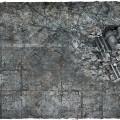 Terrain Mat PVC - City Ruins - 90x90 3