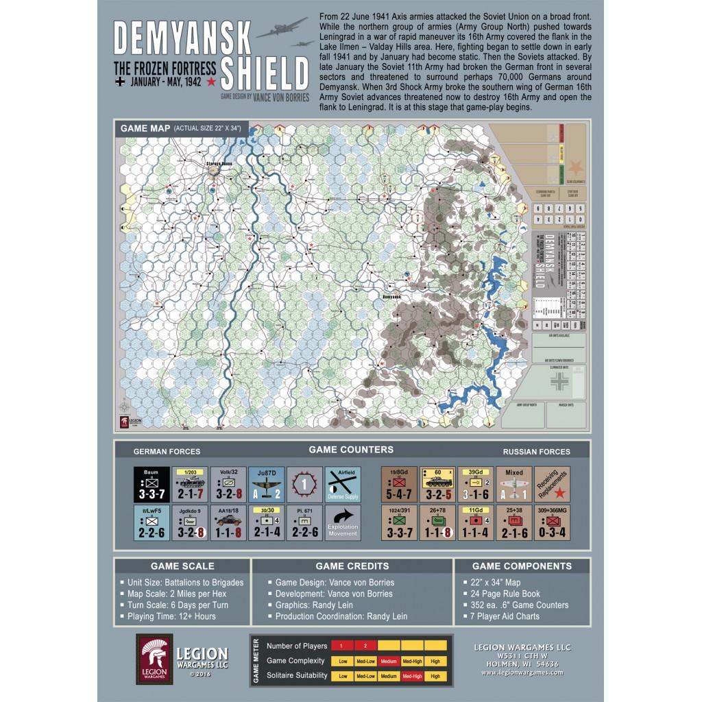 Buy Demyansk Shield Board Game Legion Wargames