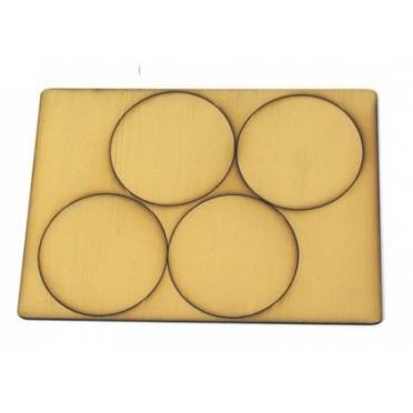 60mm Diameter Tan Primed Bases