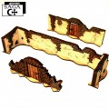 SAGA: Arabic Tall Walls With Large Gate & T Sections 0