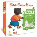Petit Ours Brun - Mon Premier Puzzle à Toucher : Les animaux 0
