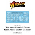 Bolt Action - French Vehicle Decals 2