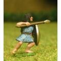 Saite Egyptian: Spearman with round shield 0