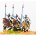 Moghul Indian: Heavy / Medium Cavalry with Bow, Shield & upright Spear, on Barded Horse 0
