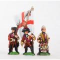Seven Years War British: Command: Officer, Standard Bearer & Drummer 0