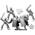 Mounted knights with swords 0