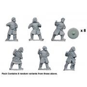Bareheaded Saxon Warriors with Spears
