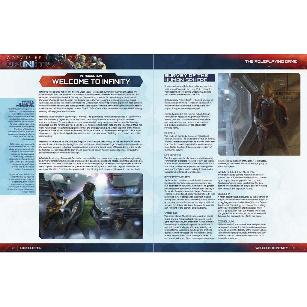 Buy Infinity RPG - Player's Guide - Board Game - Modiphius