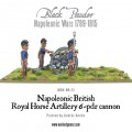 Napoleonic British Royal Horse Artillery 6-pdr cannon 4