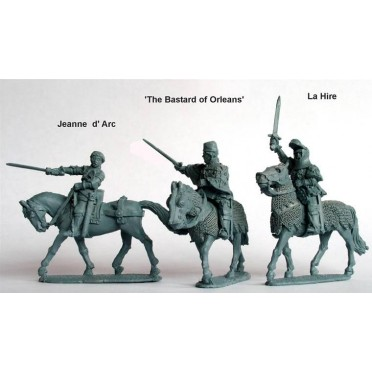 Jeanne d' Arc, La Hire, 'Bastard of Orleans' (all mounted)