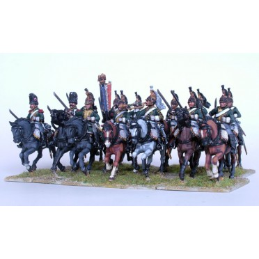 French Napoleonic Line Dragoons (13 mounted, 8 dismounted)