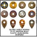 Islamic shield design to fit Gripping Beast plastic Arab miniatures 0
