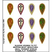 Russian Small Teardrop Shield Designs (Gripping Beast)