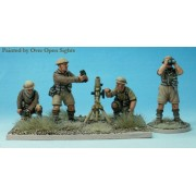 """Perry Miniatures : 3"""" Mortar and 4 crew"""