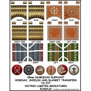 Numidian War Elephant: shields, howdah and blanket transfers