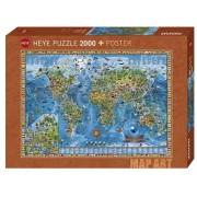 Puzzle - Map Art Amazing World - 2000 Pièces