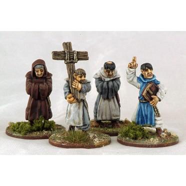 Saga - Civils et bétails - Moines avec croix