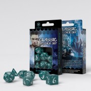 Classic RPG Dice Set-  Stormy & White