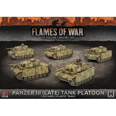 Flames Of War Panzer Iii Late Tank Platoon Boutique Philibert En