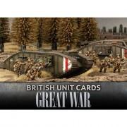 Flames Of War - Great War - British Unit Cards