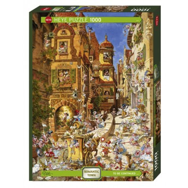 Puzzle - Romantic Town By Day – 1000 Pièces