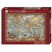 Puzzle - Map Art the World - 2000 Pièces