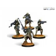 Infinity - PanOceania - Patsy Garnett, Orc Troops Varuna Div. NCO (Submachine Gun)