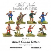 French Indian War - Armed Colonial Settlers