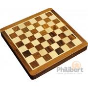 Jeu d'échecs pliant magnétique marqueté, 17 cm