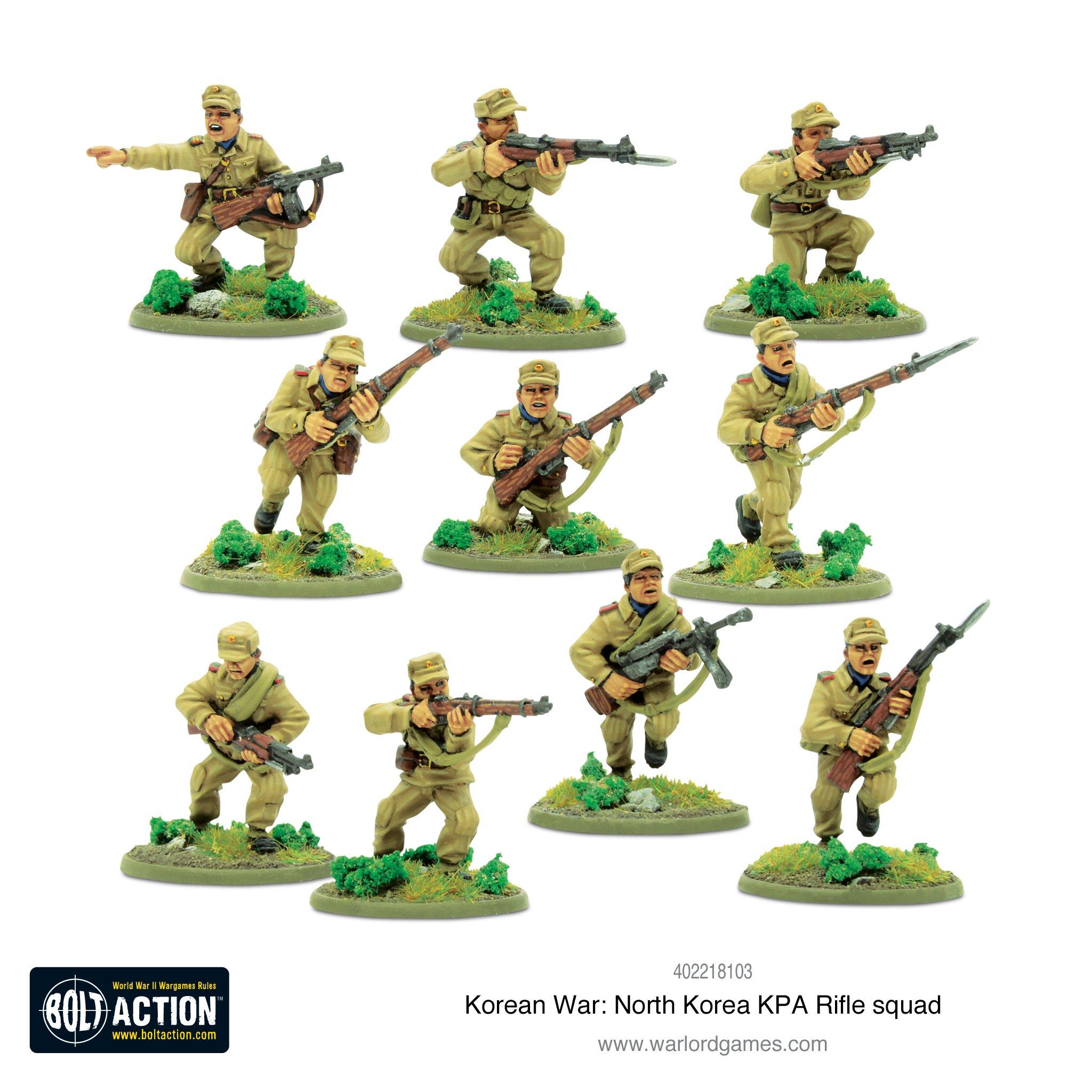 Buy Bolt Action: Korean War - North Korean KPA Rifle Squad - Board Game -  Warlord Games