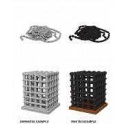 WizKids Deep Cuts Unpainted Miniatures: Cage & Chains