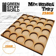 MDF Movement Trays 25x25mm