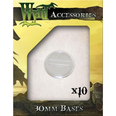 Wyrdscape Bases - 10x Clear Bases 30mm