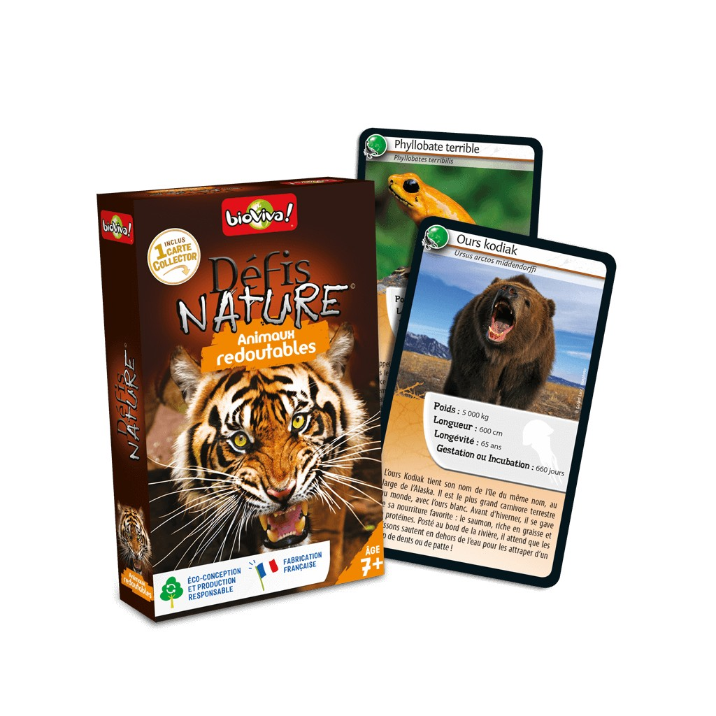 Buy Defis Nature Animaux Redoutables Board Games Bioviva Editions