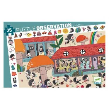 Puzzle Observation: L'Ecole des Hérissons – 35 Pièces