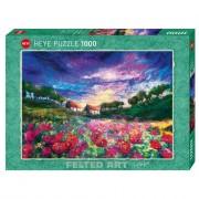 Puzzle - Sundown Poppies - Felted Art -1000 pièces