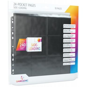 24-Pocket Sideloading Pages 10 pcs pack Noir