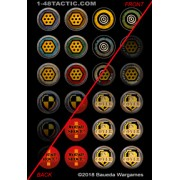 1-48 Tactic - 24 Game Markers Punchboard